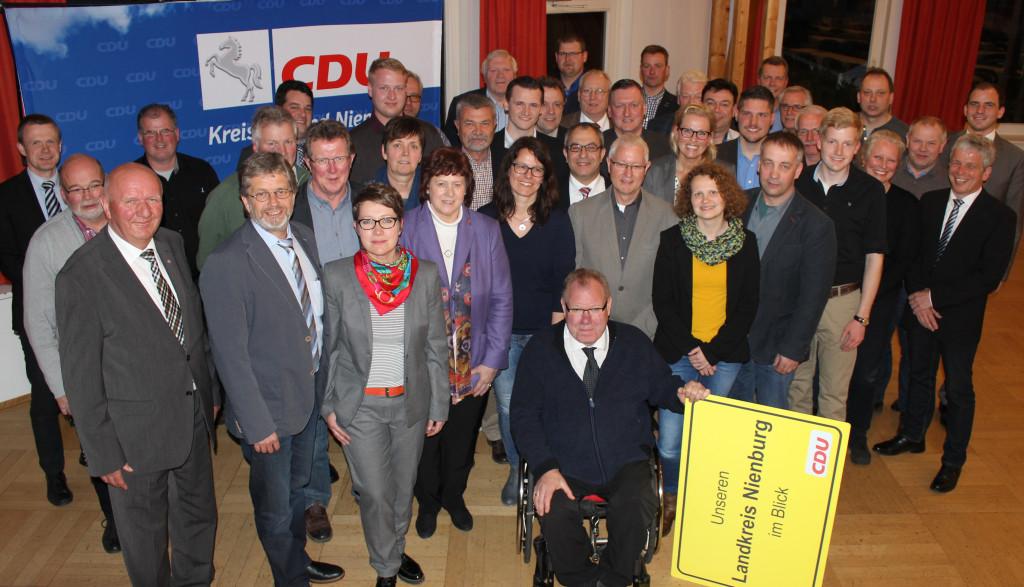 Insgesamt 58 Kandidatinnen und Kandidaten für den Kreistag aus allen Teilen des Landkreises hat der CDU-Kreisverband Nienburg im Weserschlösschen in einer Wahlkreisversammlung bestimmt.